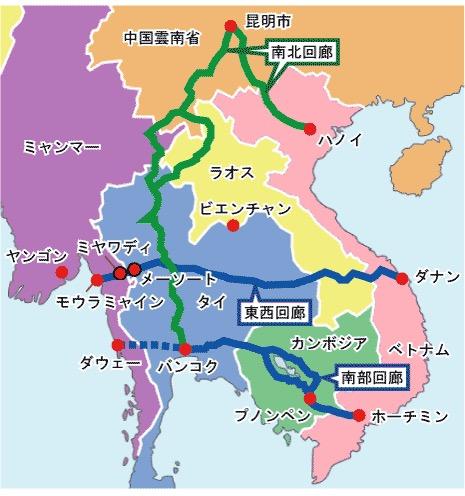 ベトナム港湾配置図